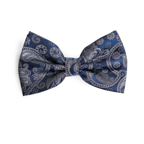 Ready-Tied Adjustable Bow Tie in Black and Green Lurex