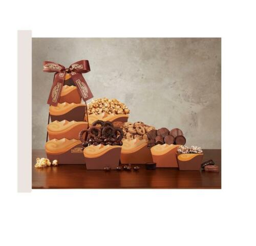 Chocolate Lovers Cookies Pretzels Oreos Fudge Gift Basket New Free Shipping