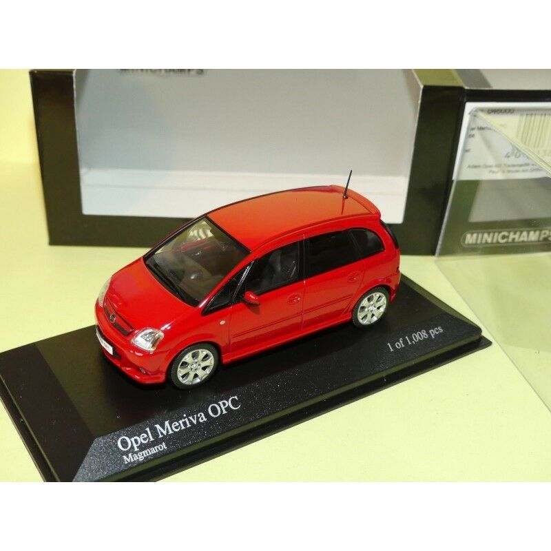 OPEL MERIVA A OPC 2006 red red MINICHAMPS 1 43