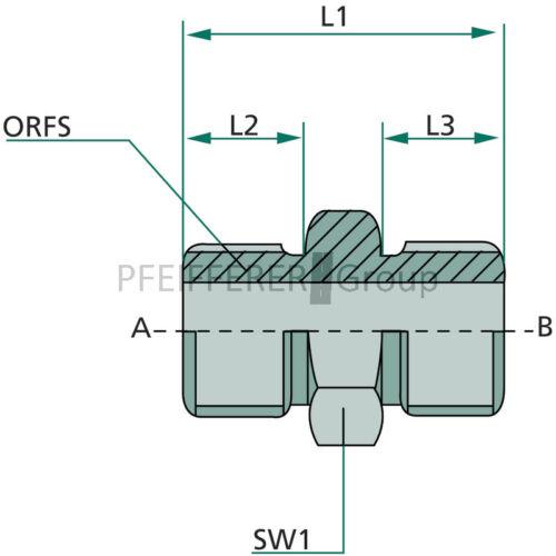 Granito ORFs adaptador recta adaptador AG-AG ga 1.3//16 M-ORFs x 13//16 M-ORFs