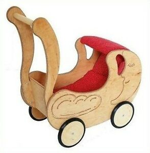 Spielzeug Holzspielzeug Puppenwagen Lauflernwagen Puppenbuggy Drewart Massivholz 934 3100