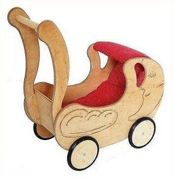 Holzspielzeug Puppenwagen Lauflernwagen Puppenbuggy Drewart Massivholz 934 3100 Baby