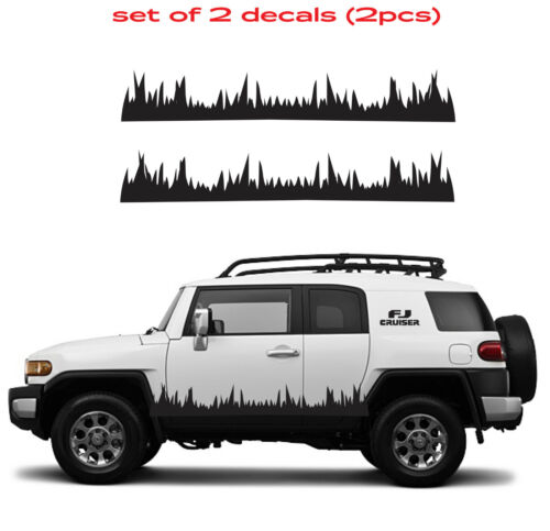 #0580 TOYOTA FJ CRUISER Grass Mountain 4Runner Decal Vinyl Side Door Graphics #8
