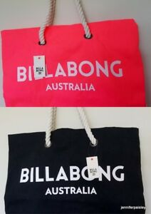 Details About Billabong New Las Essential Beach Bag C Black Large Surf Logo