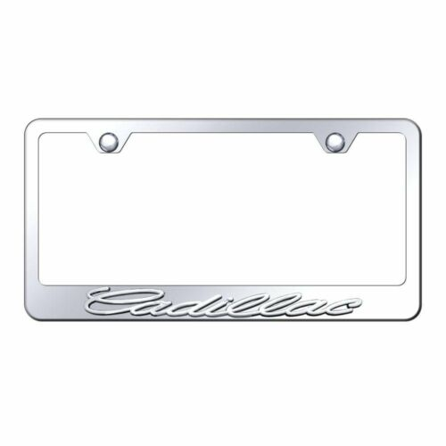 Cadillac 3D Chrome Stainless Steel License Plate Frame