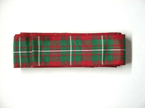10 Yards of TARTAN Type Plaid 1 1//2 inch Ribbon Ten
