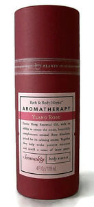 Bath-and-amp-Body-Works-Aromatherapy-Sensual-YLANG-ROSE-Essence-Mist-4-oz-RARE-HTF