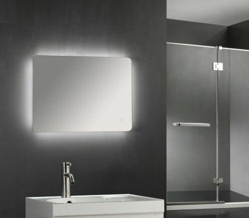 700 x 500mm Backlit LED Illuminated Touch Bathroom Mirror Demister  IP44 3007