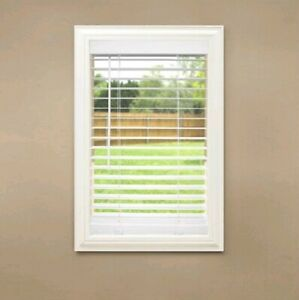 Home Decorators Collection White Cordless 2 In Faux Wood Blinds 21 In W X 64 L 793478026855 Ebay