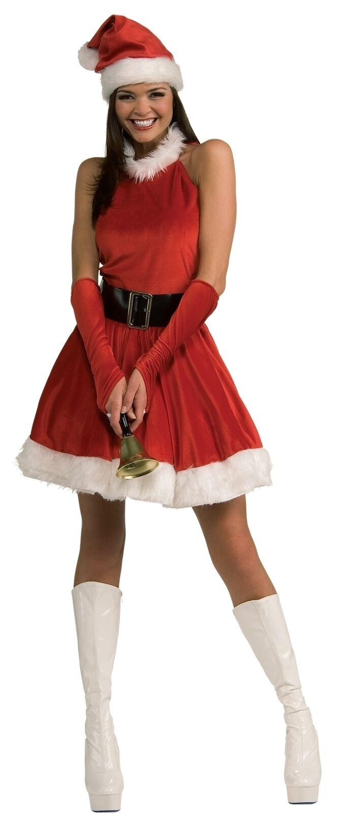 Santa's Inspiration Womens Costume Red Velvet Miss Dress Christmas
