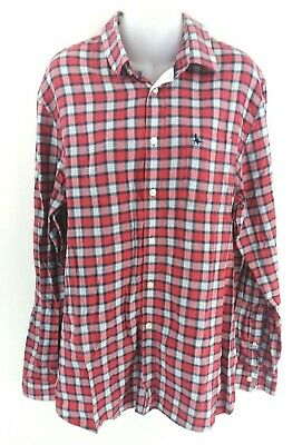 Camicia Da Uomo Jack Wills M Medium Rosa Blu Navy Blue Check Bianco Cotone-mostra Il Titolo Originale Materiali Superiori