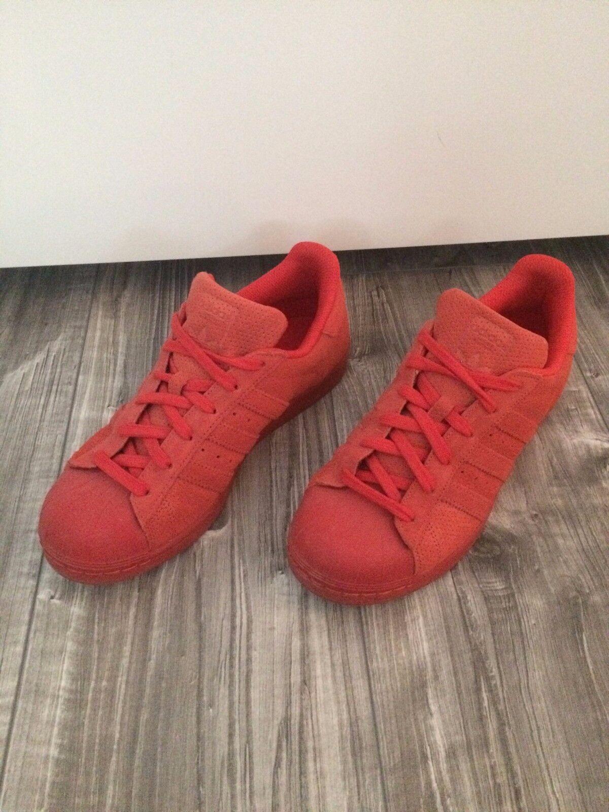 Adidas Superstars, rot Günstige und gute Schuhe