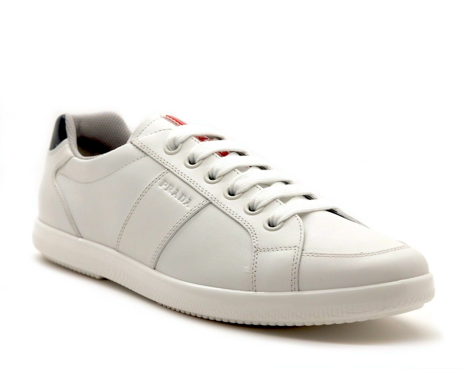 Prada Sneakers White Leather Size 11.5 NIB