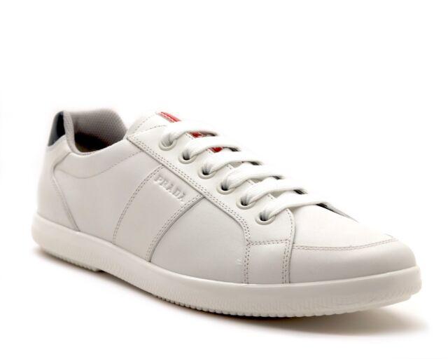 PRADA SNEAKERS White Leather Size 10
