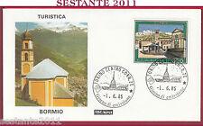 ITALIA FDC ROMA PROPAGANDA TURISTICA BORMIO SO 1985 ANNULLO TORINO U10