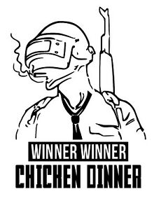 Winner Winner Chicken Dinner Pubg Sticker Logo Gaming Vinyl Decal