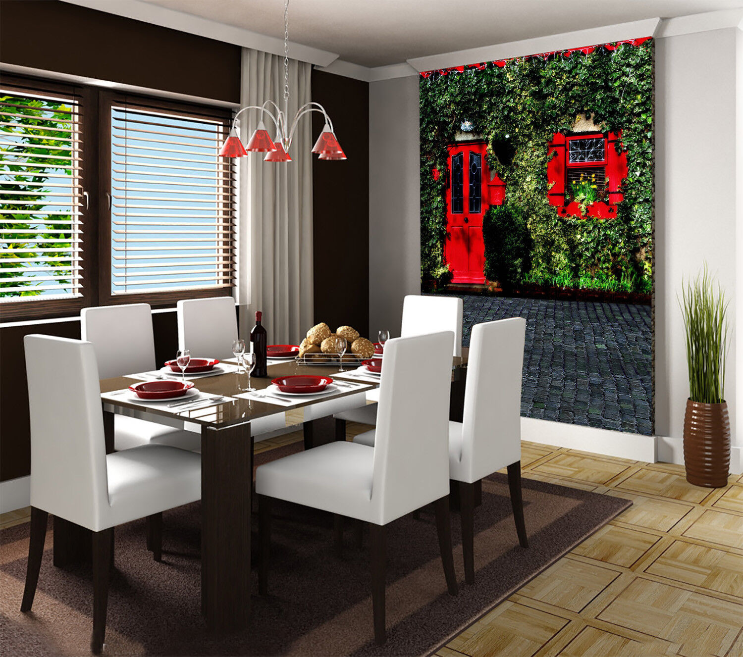 3D ROT House Vines 452 Wall Paper Wall Print Decal Wall Deco Indoor Mural Carly