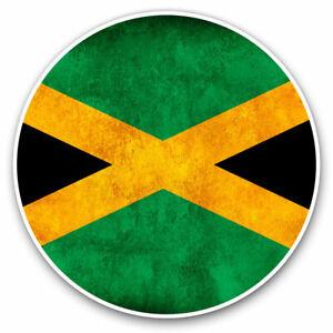 2-x-Vinyl-Stickers-7-5cm-Rustic-Jamaica-Flag-Cool-Gift-14366