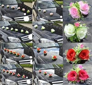 Brautauto Hochzeitsauto Dekoration Rosen Kunstrose Autodeko Auto