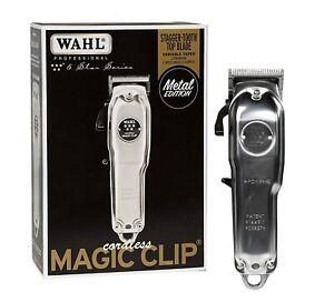 Wahl-Cordless-Magic-Clip-Metal-Edition-08509-110-220-Volts-50-60-Hz-w-Free-Razor
