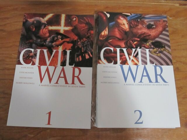 Civil War complete mini series #1-7 Mark Millar and Steve McNiven Marvel Comics