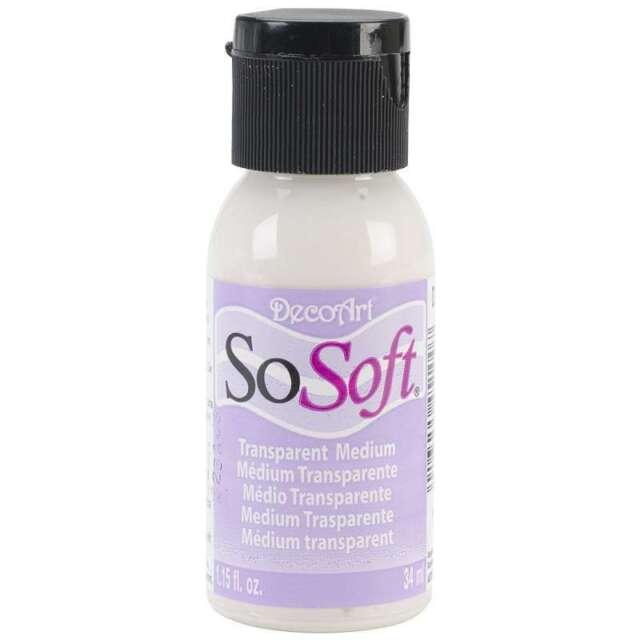 Decoart Sosoft Fabric Paint 1oz Medium Transparent
