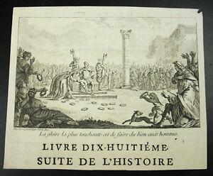 Jacques Philippe Le Bas (1707-1783) La Gloire La Plus Touchante ..gravure Xviiie