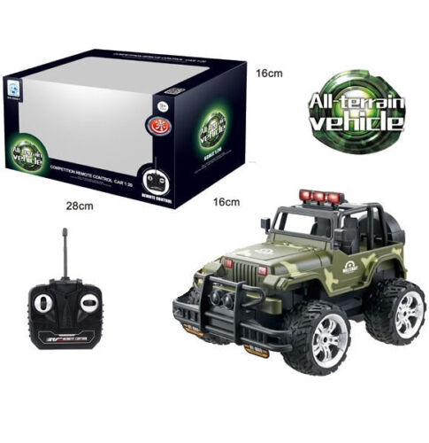 Kids R//C Army Camouflage Jeep Remote Control Toys Ideal Gift For Little Ones New