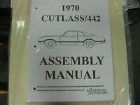 1970 Cutlass, 442 (all Models) Assembly Manual