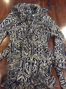 NewNwt Sweater Polo Ralph Details About Coat Robe Lauren Indigo Blue Jacket Women's Belted 9IH2YbDWEe