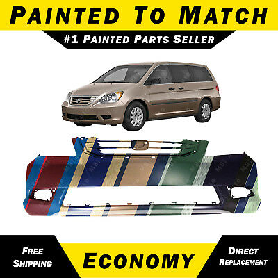 MBI AUTO Front Bumper Cover Replacement Fascia for 2008 2009 2010 Honda Odyssey Van 08-10 HO1000257 Painted to Match