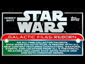 2017-Topps-Star-Wars-Galactic-Files-Reborn-Trading-Cards-Pick-From-List