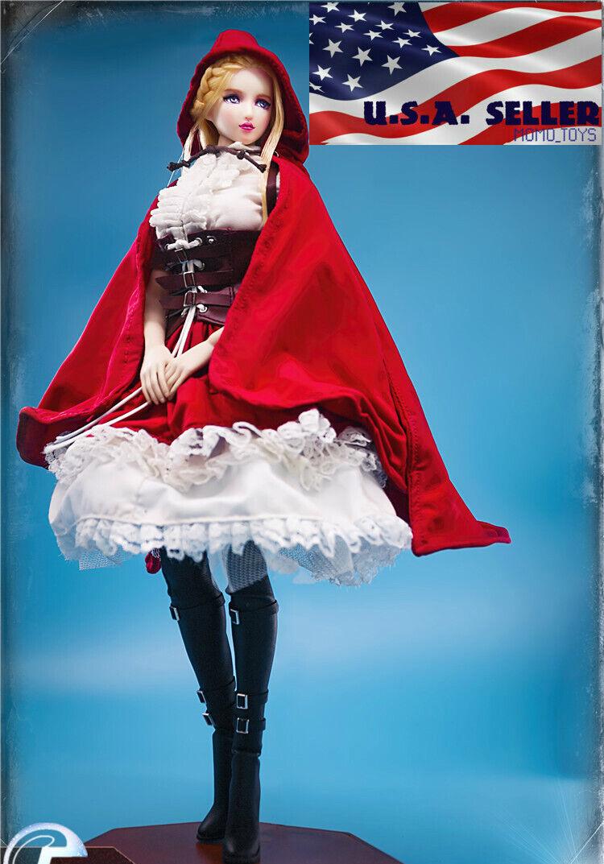 1 6 LOLITA klein rot Riding Hood Dress Set For 12  TBLeague PHICEN Figure ❶USA❶