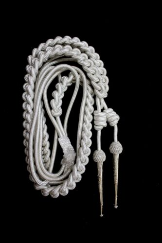 NEW DEURA BRAND ARMY SILVER AIGUILLETTE BRITISH OFFICER FREE SHIPPING USA