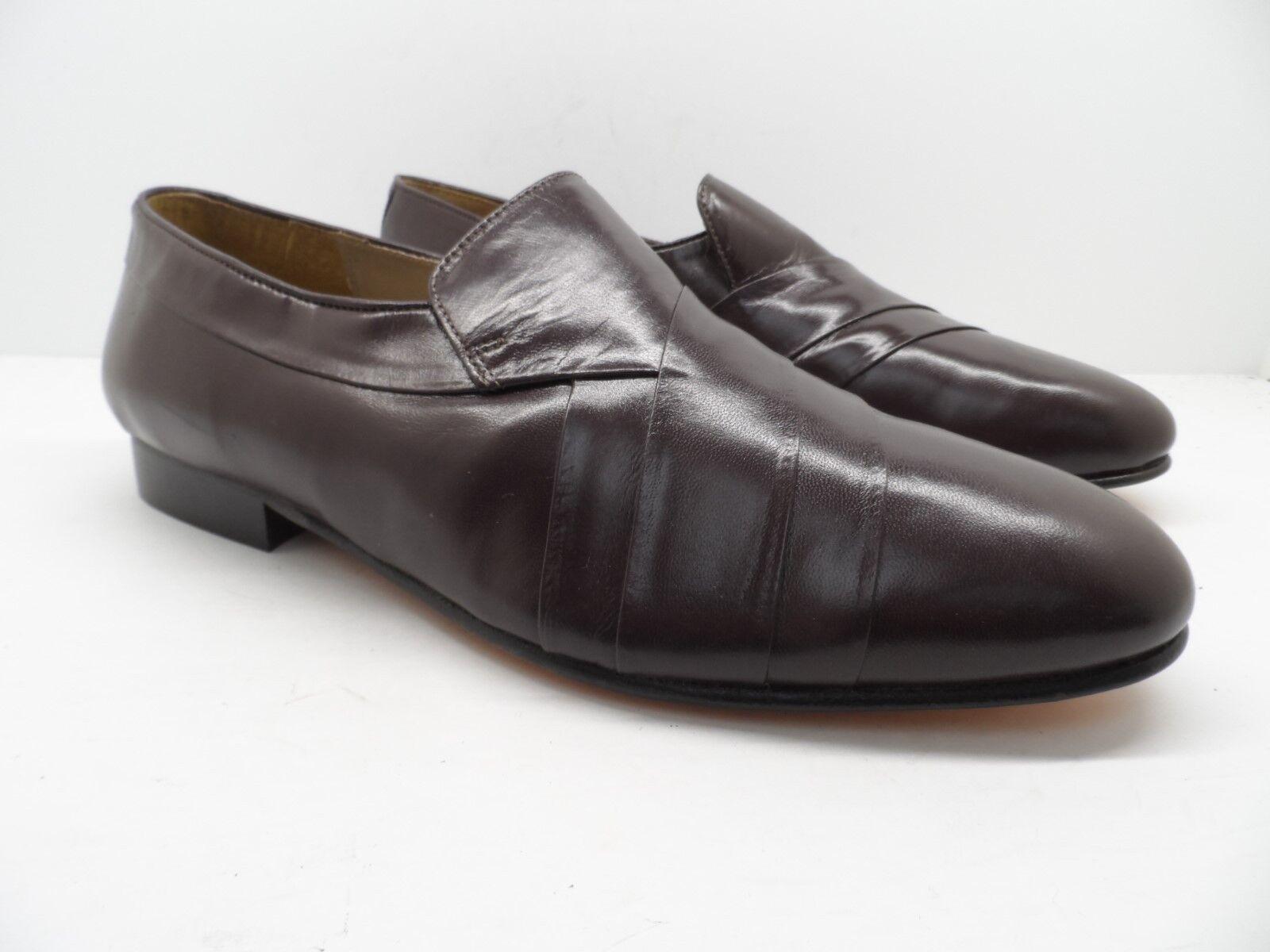 Giorgio Brutini Men's Pierce 244387 Kidskin Slip On Loafer Wine Size 8 Wide