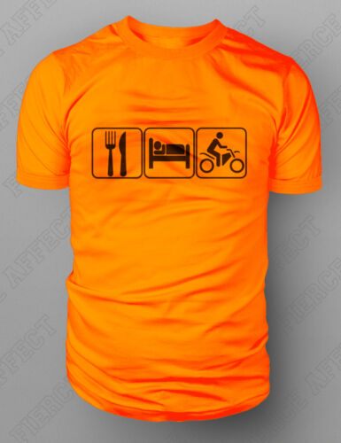 Manger dormir motocross moto moto T-shirt Dirt Enduro Vélo tshirt M-XXL