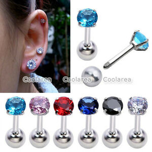 1x-16G-Round-CZ-Gem-Tragus-Ring-Monroe-Ear-Stud-Cartilage-Foward-Helix-Earring