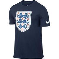Nike England Euro 2016 Soccer Core Badge Fan Shirt Navy Blue