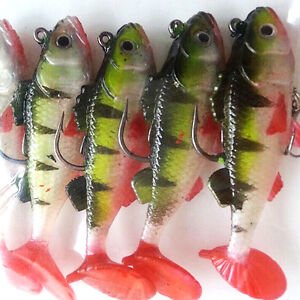Details about BABY FISH LEAD HEAD JIG feathers VMC hook LRF bass perch lure  pike trout ZY