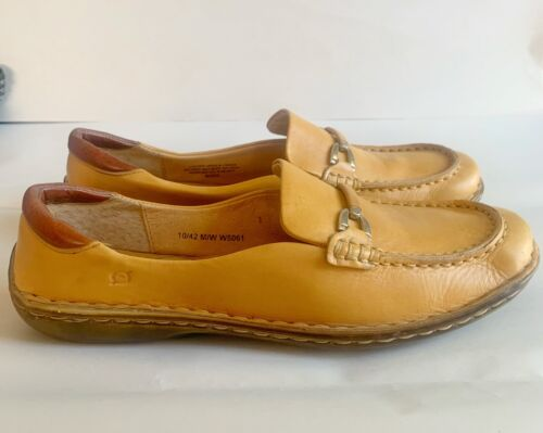 Born Natural Tan Leather Slip On Loafers Size 10