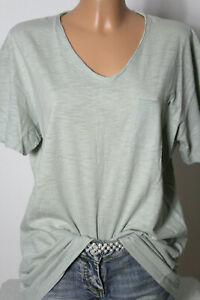 ZARA-T-Shirt-Gr-L-mint-gruen-Baumwolle-Kurzarm-Damen-T-Shirt