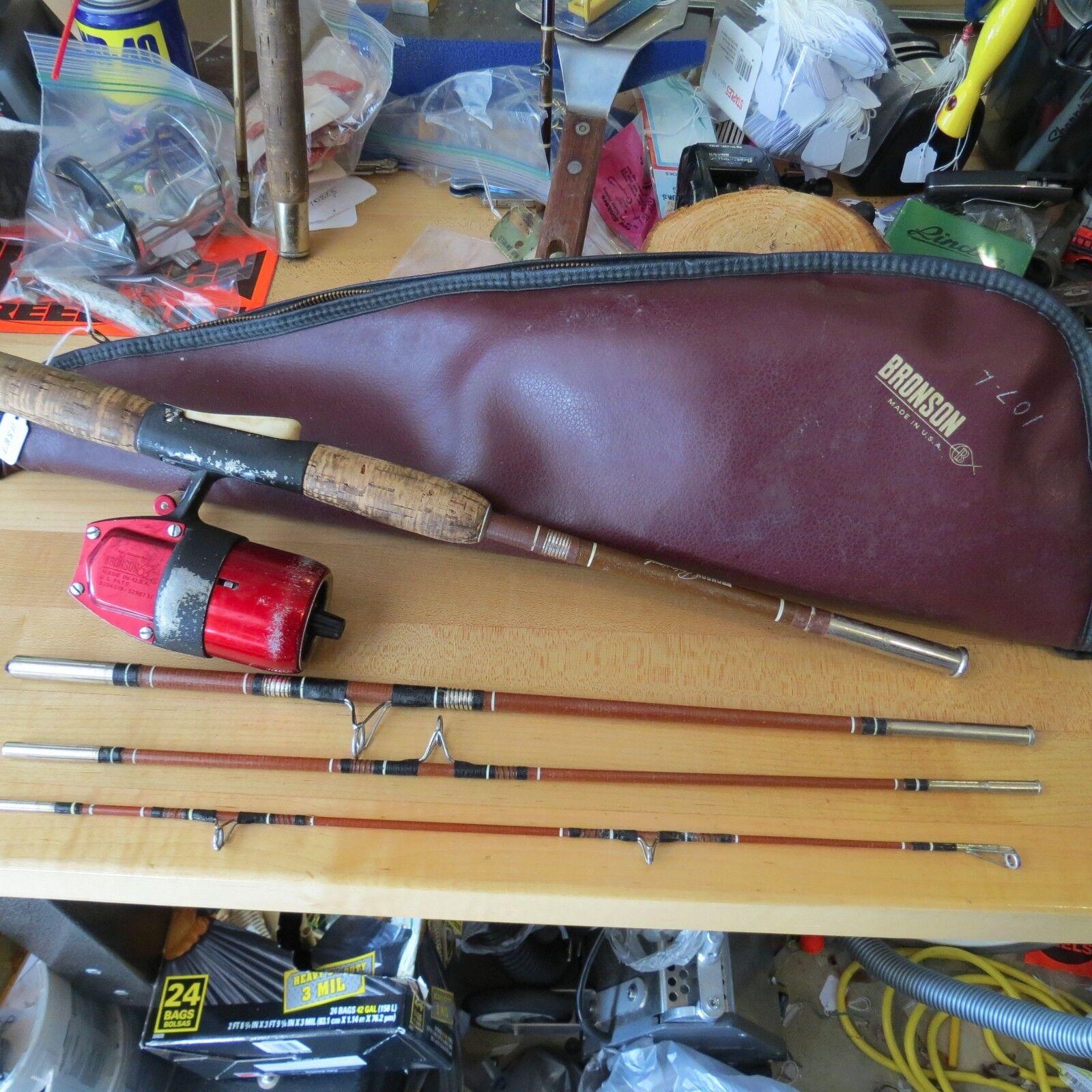 Bronson 63 Professionelle Angelrolle  4 Stück Angelrute mit Gehäuse (Partie)