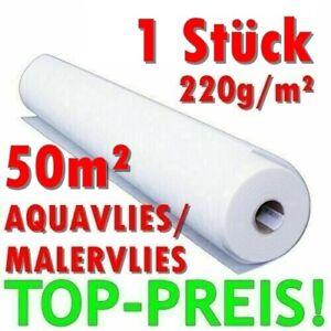 1x-50m-Maler-VLIES-Tapete-Glasfaservlies-220g-Anstrich-Renovier-AQUA-Kleber