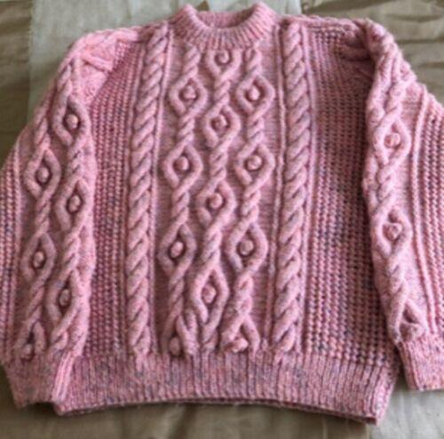 FS022 Lavoro a Maglia Motivo Donna o Uomo tradizionali Aran Sweater Taglia 34-44 INS