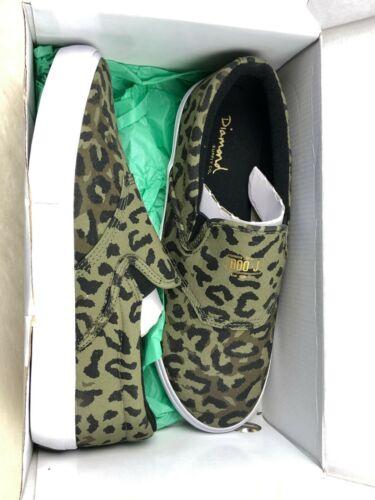 Diamond Supply Co Boo Johnson Camo Slip On Low Top Skateboarding Shoes