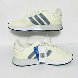 Adidas-N-5923-Grey-Three-Running-Shoe-DB0958-Off-White-Yellow-Mens-Size-9-5-NWOB