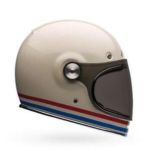 NEW-Bell-Bullitt-Helmet-Stripes-Pearl-White-from-Moto-Heaven