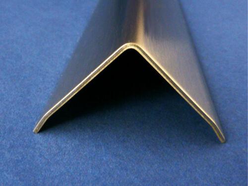 Edelstahl Kantenschutz Eckschiene 2000 oder 2500mm 60x30 mm 3-fach Außen K320.