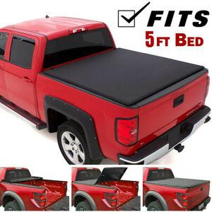 For Toyota Tacoma 2004 2019 5ft Short Bed Soft Tri Fold Tonneau