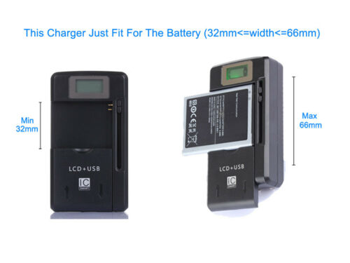 LCD Universal Battery Charger Adapter For T-Mobile Galaxy S II SGH-T989